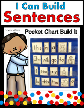 Build a Sentence Pocket Chart Literacy Center (Over 100 Words and Pictures)