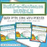 Build a Sentence Quickprint Sight Word Practice Pages: BUNDLE