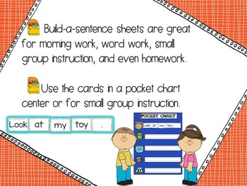 Build a Sentence Quickprint Sight Word Practice Pages: Grade One List