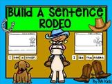 Build a Sentence Rodeo / Western / Kindergarten