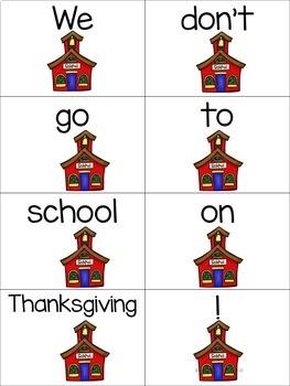Build a Sentence  Thanksgiving