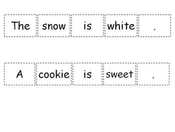 Build-a-Sentence Thematic Cards