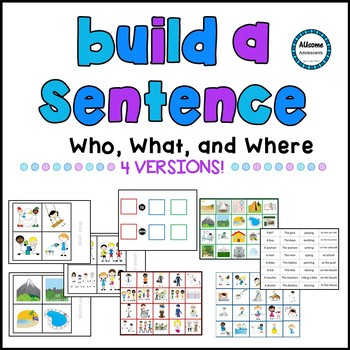 Build a Sentence- WH Questions (Autism/Sped/Elementary)