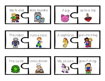 Build a Sentence Writing Center Activity