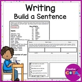Build a Sentence Writing Lists and Worksheets