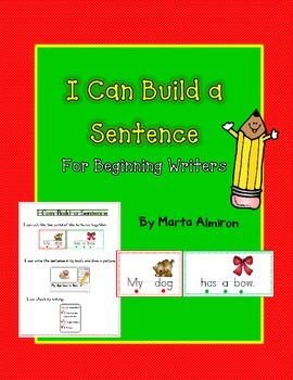 Build a Sentence for Beginning Writers