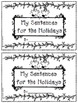 Build a Sentence for the Holidays - Beggining writers