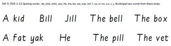 Build-a-Sentence reading manipulative, Set 3