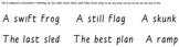 Build-a-Sentence reading manipulative, Set 4