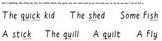 Build-a-Sentence reading manipulative, Set 5