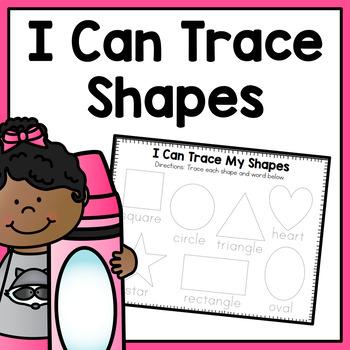 Trace a Shape Worksheet
