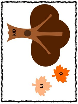 Build a Sight Word Fall Trees Dolch Primer
