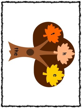 Build a Sight Word Fall Trees Fry First 100