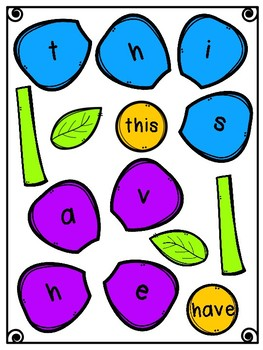 Build a Sight Word Flowers Fry First 100