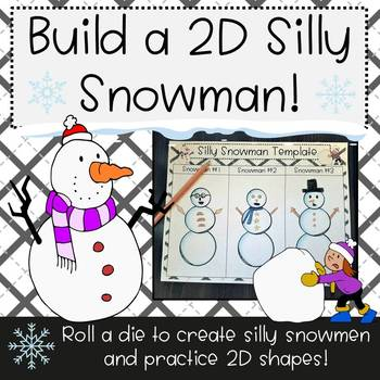 Build a Silly 2D Shape Snowman!