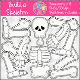Build a Skeleton Clip Art CU OK