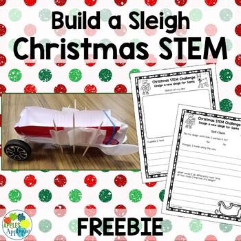 Build a Sleigh Christmas STEM FREEBIE