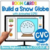 Build a Snow Globe: CVC Sound Winter Articulation Boom Cards™️