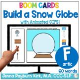 Build a Snow Globe: F Sound Winter Articulation Boom Cards™️