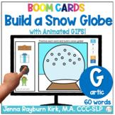 Build a Snow Globe: G Sound Winter Articulation Boom Cards™️