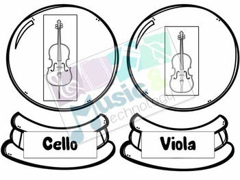 Build a Snow Globe Orchestra Instrument Matching