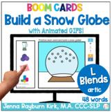 Build a Snow Globe: L Blends Sound Winter Articulation Boo