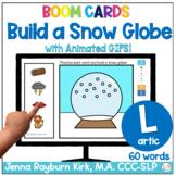 Build a Snow Globe: L Sound Winter Articulation Boom Cards™️