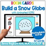 Build a Snow Globe: Multisyllable Words Winter Articulatio