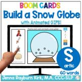 Build a Snow Globe: S Sound Winter Articulation Boom Cards™️