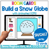 Build a Snow Globe: SH, CH, J Sounds Winter Articulation B