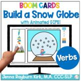 Build a Snow Globe: Verbs Winter Language Boom Cards™️