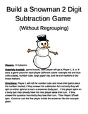 Build a Snowman 2 Digit Subtraction Without Regrouping Games