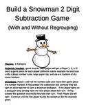 Build a Snowman 2 Digit Subtraction With and Without Regrouping Game