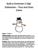 Build a Snowman   2 digit subtraction minus tens and ones game