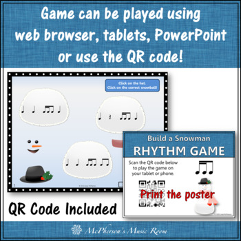 Build a Snowman - Interactive Rhythm Game (2 sixteenths/1 eighth)
