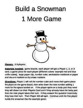 Build a Snowman 2nd Grade