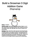 Build a Snowman 3 Digit Addition With Regrouping Games