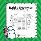 Build a Snowman 3-digit Addition Math Center with regrouping