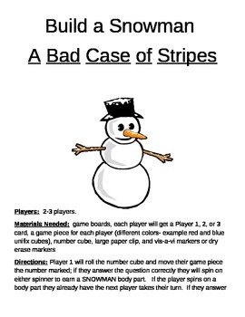 Build a Snowman A Bad Case of Stripes Game