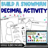 Build a Snowman: A Decimal Operation Craftivity Freebie