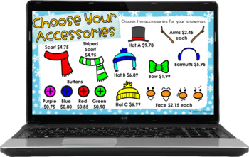Build a Snowman: A Decimal Operation Craftivity Freebie