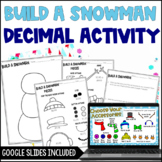 Build a Snowman: A Decimal Freebie - Digital Activity Included