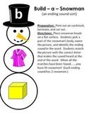 Build - a - Snowman - A Winter ending sound sort