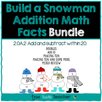 Build a Snowman - Addition Facts (1-20) Bundle