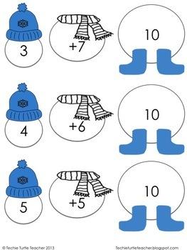 Build a Snowman - Addition Facts (1-20) Bundle