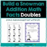 Build a Snowman - Addition Facts - Doubles (1-9)