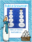 Build a Snowman Addition and Subtraction Craft
