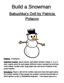 Build a Snowman Babushka's Doll Game by Patricia Polacco