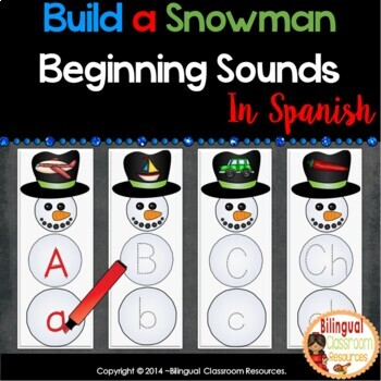 Build a Snowman Beginning Sounds In Spanish