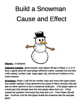 Build a Snowman Cause and Effect